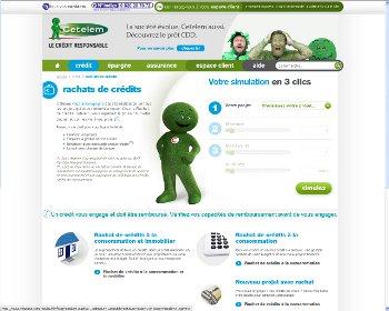 Cetelem rachat de crédit en ligne