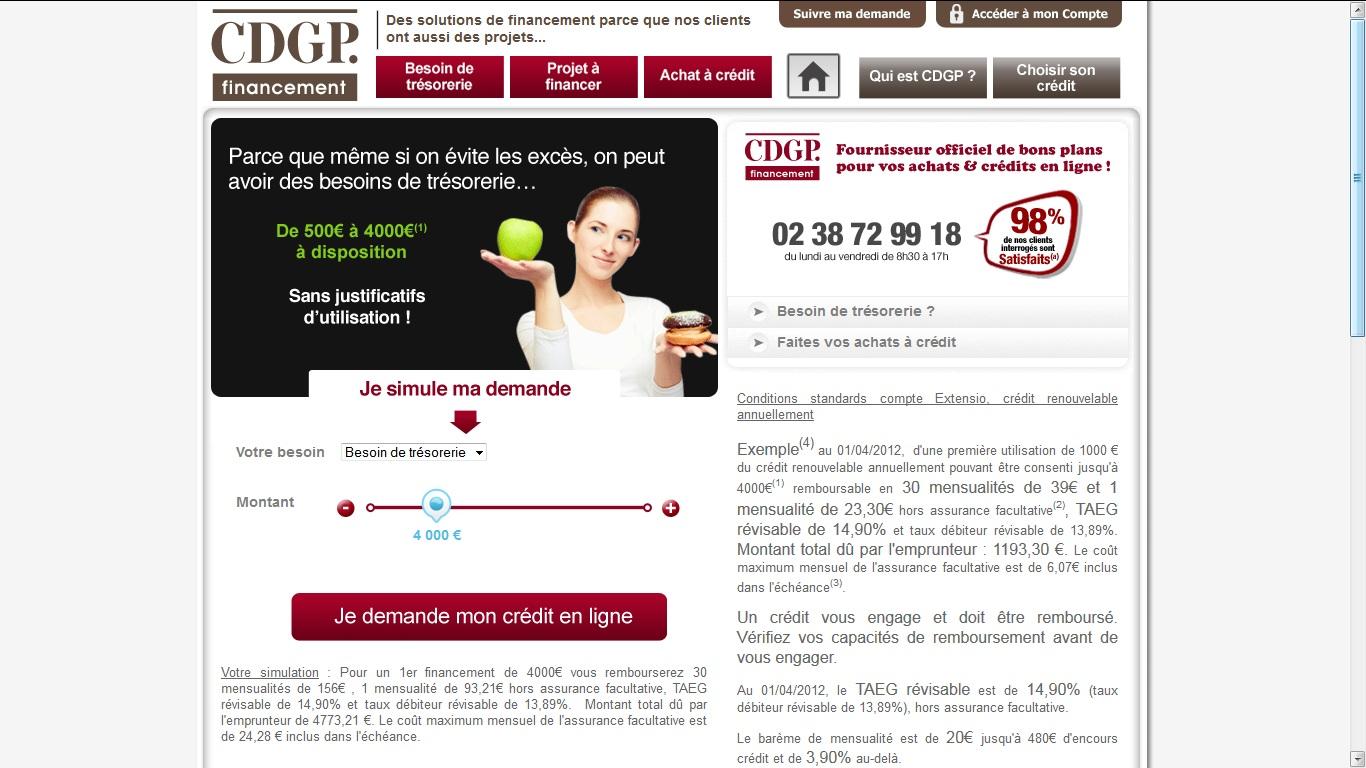 CDGP Financement Demande de crédit en ligne