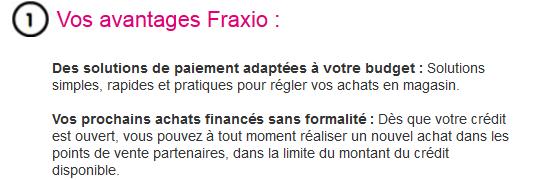 fraxio crédit renouvelable cofidis