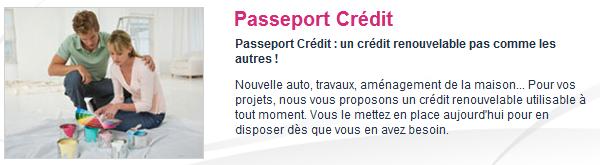 passeport crédit