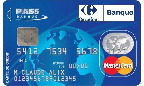 carte de crédit Pass carrefour banque