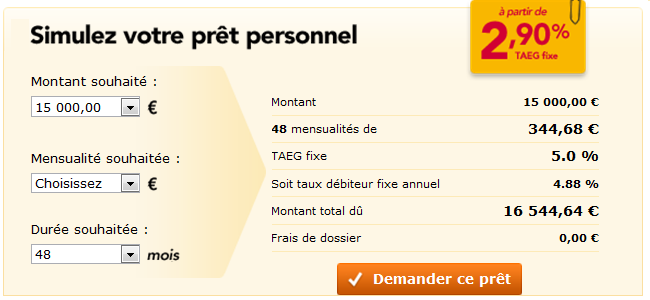 Simulation oney banque pr t personnel demande cr dit en ligne - Oney fr mon compte ...