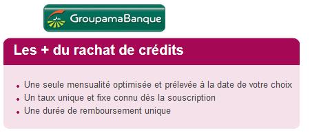 rachat de crédit groupama banque