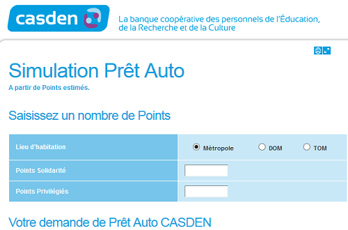 Simulation casden pr t immobilier points cr dit - Simulation pret travaux cetelem ...