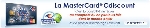 carte mastercard cdiscount