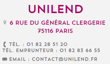 unilend service client contact