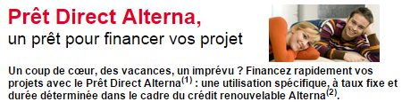prêt direct alterna crédit conso