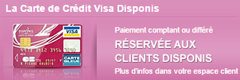 carte de crédit Visa Disponis