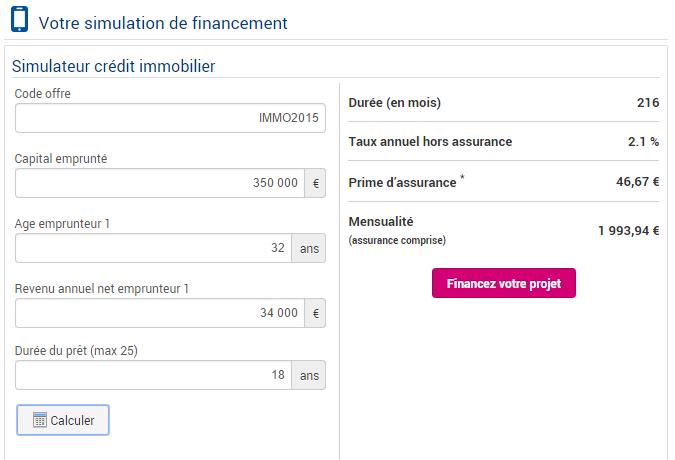 simulation de crédit immobilier boursorama banque