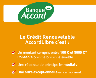 Accord libre auchan accordlibre banque accord - Pret travaux banque accord ...