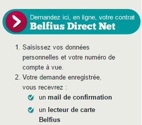 Accès à Belfius Direct Net