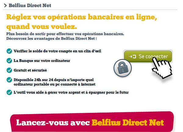 Espace client Belfius Direct