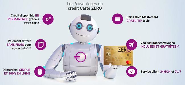 carte Zero avantages